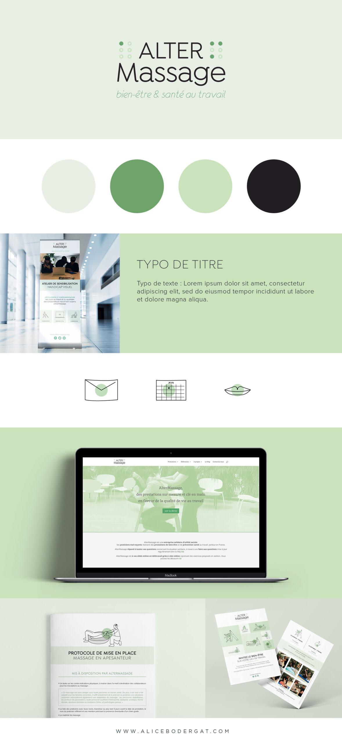 Altermassage création d'identité visuelle, branding et site internet